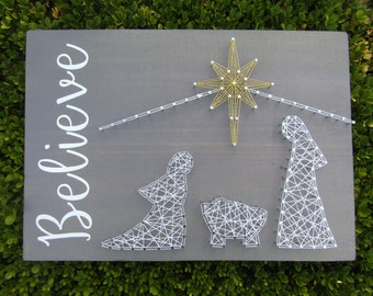 Believe #1 Nativity String Art *Made-to-Order*