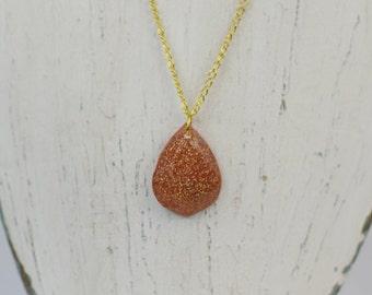 Glitter Tear Necklace