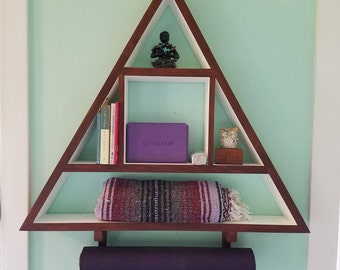 Large Triangle Yoga Shelf (optional mat holder)
