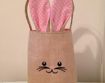 Personalised Easter Bunny Basket, Easter Egg Hunt Basket, Easter Bunny Bag