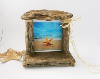 Unique Driftwood Frame Rustic Beach Frame Coastal Home Decor Shabby Chic Home Decor Vacation Home Memories Family Photo