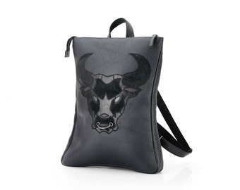 Mens Leather Backpack / Handcrafted Leather Backpack / Male Backpack / Brutal Backpack / Handsome Backpack / Men's Backpack
