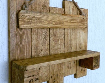 Handmade Rustic Driftwood Industrial Shelf made from Recycled Pallet Wood