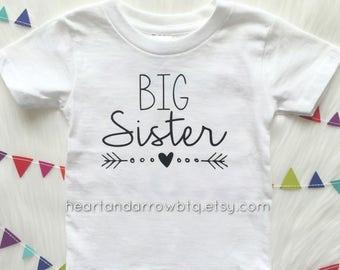 Big Sister TShirt / Baby Onesie® / Baby Bodysuit / Toddler TShirt / Sibling / Announcement