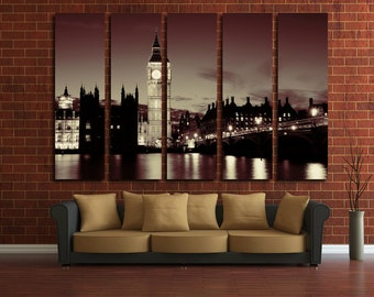 London Print Big Ben Photo London Poster London Photo London Canvas Art London Wall Decor London Art Large London Canvas Wall Art Tower