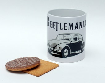 Beetle mug - Volkswagen Beetle lover - VW Beetle gift - VW mug - classic car lover - car enthusiast - vintage Beetle mug - German car gift
