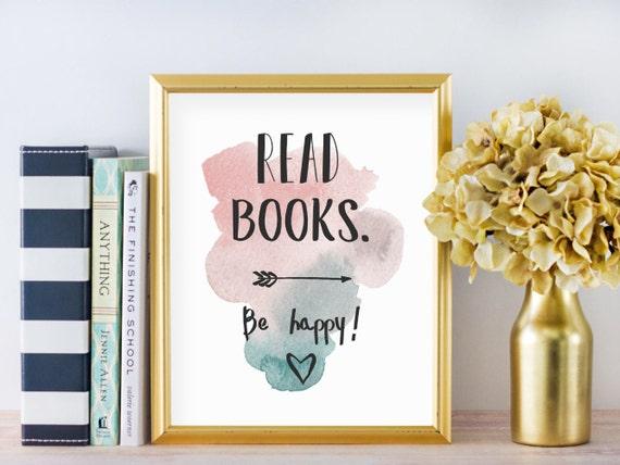 Literary digital print - Bookish home decor - Unique bookish print - Literary gift print - Literary gift poster - Library print art