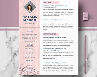 Creative resume   Etsy nmctoastmasters Professional Resume Template  Cover Letter Template  References Template   MS Word  Creative Resume