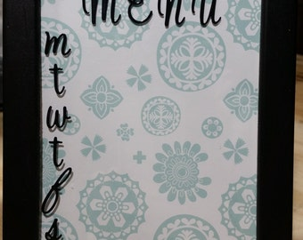 5x7 Framed Table/Countertop Menu Dry Erase Board