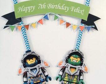Lego Nexo Knight Cake Bunting