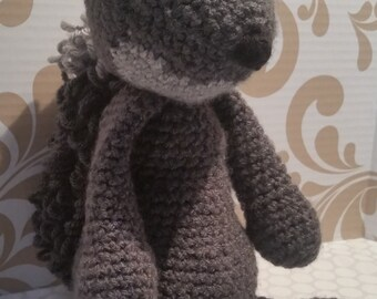 Sage the Gray Squirrel Crocheted Stuffed Animal