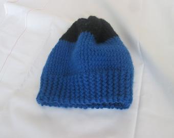 blue black cap