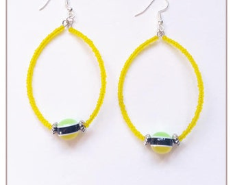 """Rainbow Collection"" yellow earrings"