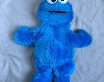 Vintage Cookie Monster Hand Puppet 1980s