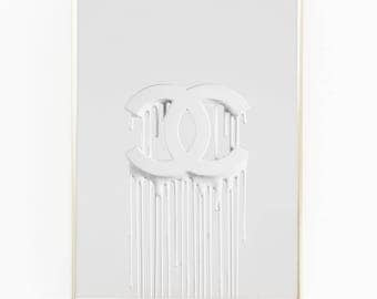 Print / Poster, 'Chanel Blanc', Wall Art, Modern, Minimal, Wall Decor, Home Decor, Inspirational Print, Quote Print, Scandinavian