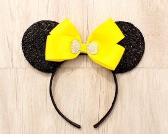 Yellow Mickey Mouse Ears, Minnie Mouse Ears, Mickey Mouse Ears, Party Mickey Ears, Minnie Ears, Mickey Ears, Disneyland Ears, Party Hat