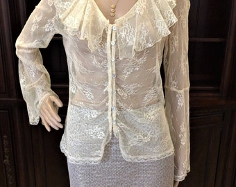 Stunning,Vintage Lace Top By Bandolino, Size 8
