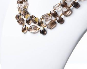 Handmade Natural Smoky Quartz Necklace