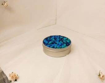 1/2 pound of blue mix rocks