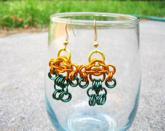 Aquaman Themed Chainmaille Maille Man Earrings