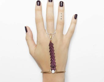 Lace bracelet - SCORPION - Black, burgundy or teal lace