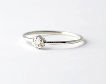 Unique Engagement Ring: Hexagon Diamond