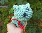 READY TO SHIP - Crochet - Chibi Pokemon Amigurumi - Bulbasaur. Pokemon Plush. Pokemon Crochet. Bulbasaur Plush. Pokemon Gift. Anime Gift.