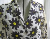 Vintage Dress Swiss Dot Daisy Print Mod Howard Wolf Designer