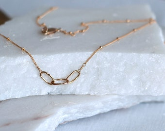 Three Chain Gold Fill Necklace