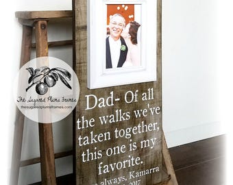 Father of the Bride Gift, Father of the Bride Frame, Father of the Groom Gift, Of All The Walks, 8x20 The Sugared Plums Frames