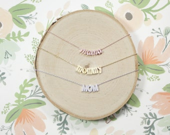 Mother Necklace   Mommy Jewelry   Mama Necklace   Mama Bear   New Mother Jewelry   Mommy and Me   Pregnancy Reveal   Mothers Day Gift