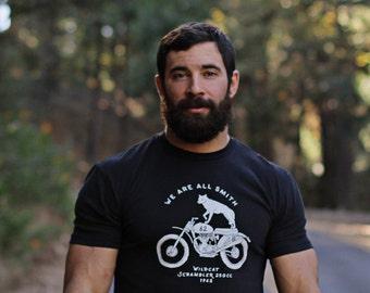 Men's Sale - Black T-shirt for Men - Motorcycle t-shirt for Men - Mens Clothing - Men's Apparel - wildcat scrambler tshirt for men