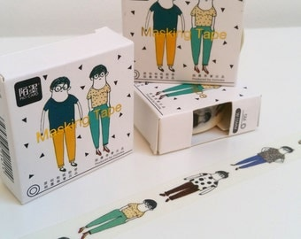 Quirky Doodle People Washi Tape