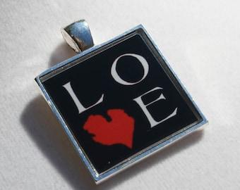 Michigan Love Resin Pendant, Michigan Jewelry, Michigan Necklace