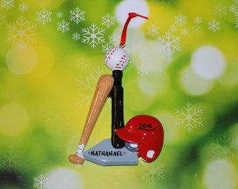 Personalized T-Ball Christmas Ornament