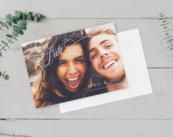 Save the Date Postcard - Save the Date Card - DIY Printable - Announcement Invite