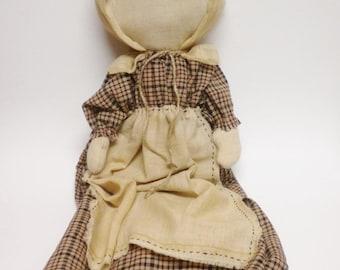 Prairie Doll, Primitive Dolls, Country Decor, Faceless Dolls