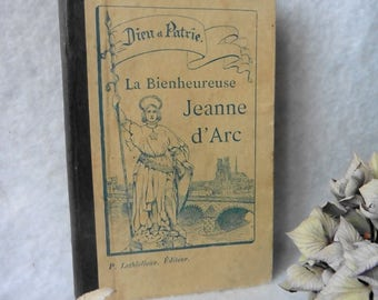 1905 French Book The Blessed Joan of Arc by Dunand, Biography, History, France, Vintage, Catholic, Saint, War,  Old book, Illustrated, Holy