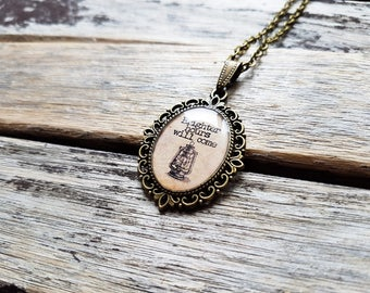 Brighter Hours Will Come Cameo Pendant- Nautical Lantern - Inspirational Quote Jewelry- Good Luck Gift - This Too Shall Pass - Encouragement