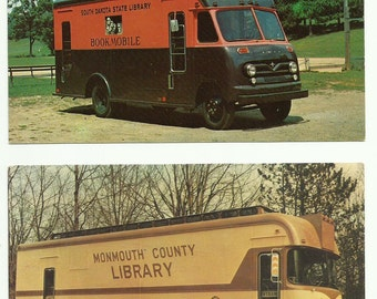 Vintage Bookmobile Postcards Lot of 9 Different 1950s 1960s- Start A New Collection or Add to Your Existing One