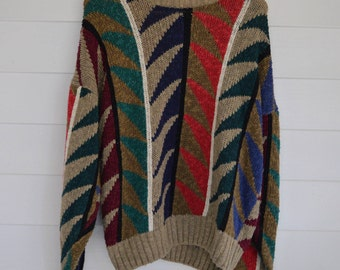 Vintage Abstract BOSTONS TRADER'S Sweater