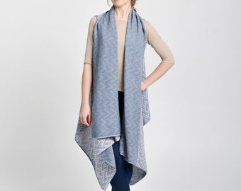 Ruana, oversized, cashmere vest, sleeveless coat, long cardigan, grey cardigan, cashmere kaftan, long coat, knitted vest, knitted jacket