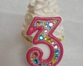 Pink, aqua, yellow, spring, birthday candle, keepsake candle, anniversary candle, custom candle