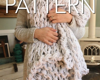 SALE! Lush Arm Knit Throw Pattern // Chunky Throw // Knit Blanket // Chunky Blanket // Beginner Pattern // Simply Maggie