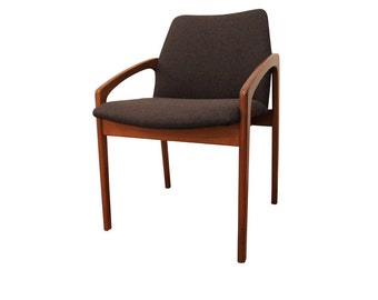 Mid-Century Modern Arm Chair Danish Modern Kai Kristiansen for Korup Stolefabrik Teak Open Arm Chair