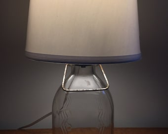 Antique Milk Bottle Table Lamp
