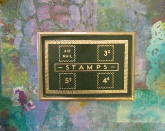 Vintage Team Line Quality Plus Postage Stamp Holder Box