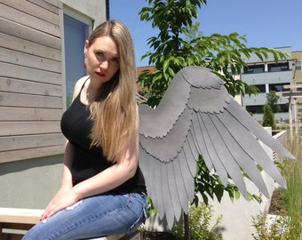 Hawk, Cosplay, Hawk Girl Wings, Mantled, Bird Wings, Accessories, Feathers, Made to Order