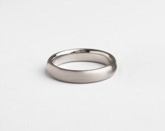 mens white gold ring 18k white gold wedding band mens wedding ring men