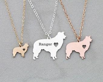 SALE • Border Collie Dog • New Family Dog • Dog Memorial Gift • Dog Silhouette Charm • Dog Lover Gift • Animal Farm Dog • Herding Dog Gift